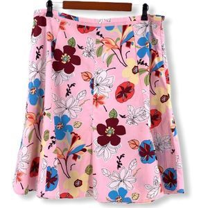 Requirements Pink Floral Cotton/Spandex Skirt